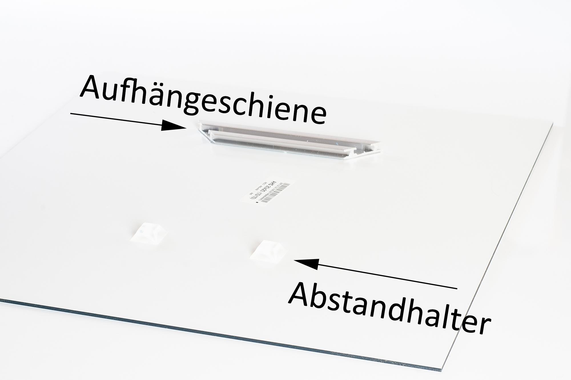 Rückseite der Alu-Dibond-Platte